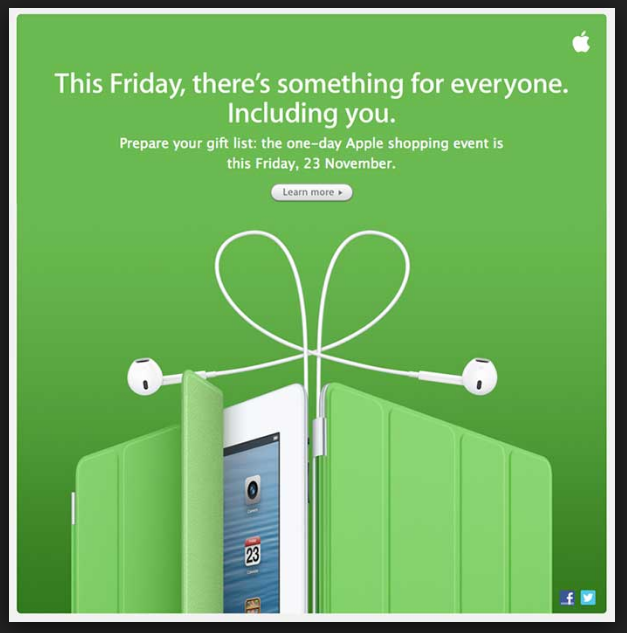 Apple Black Friday Campaign
