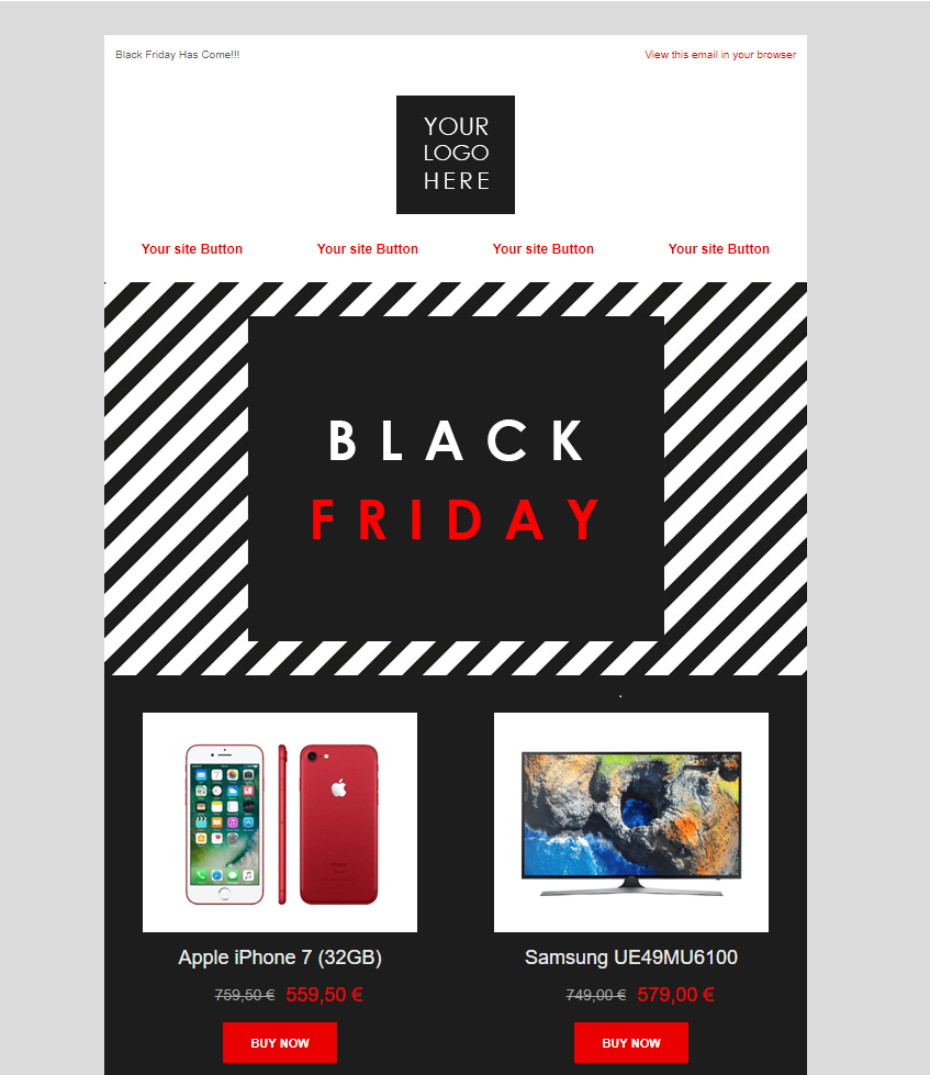 Black Friday Email Template 1