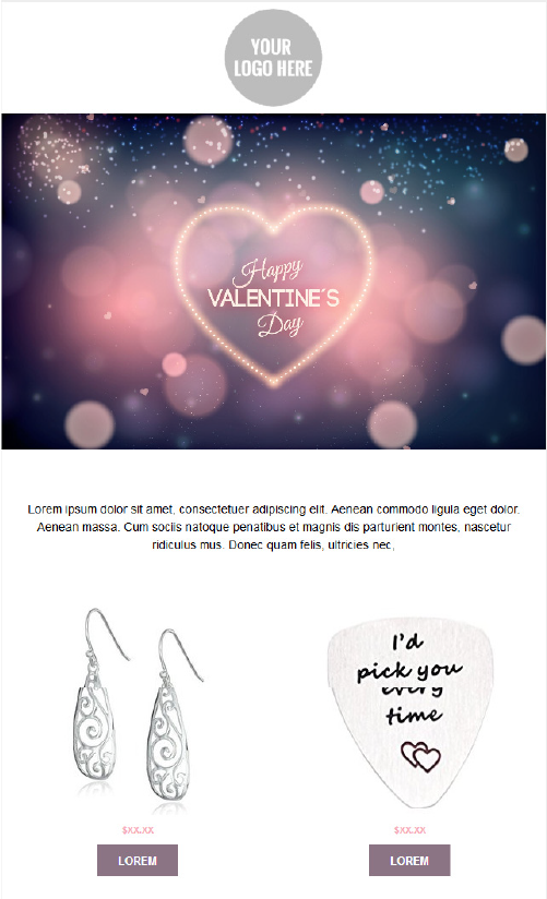 Valentines Day Email Templates - Dreamy Heart