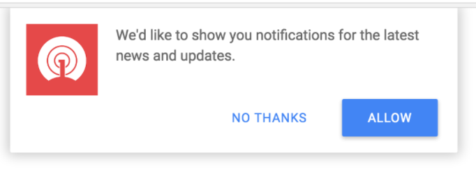 Chrome Notifications Opt In