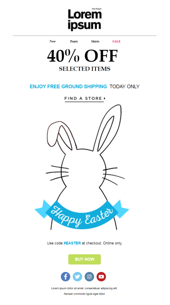 Easter Email Templates #3: Happy Easter