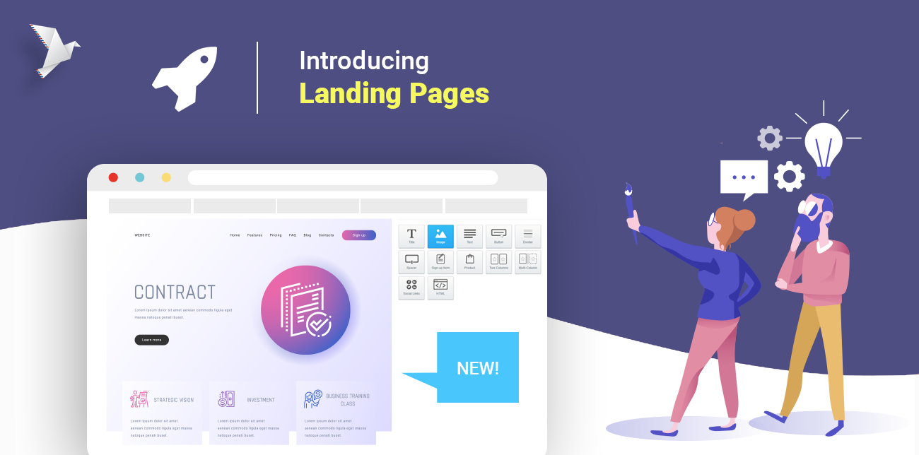 New ContactPigeon Landing Page Builder