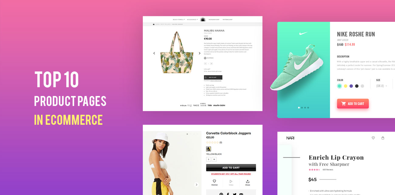 Ecommerce best product pages 2018