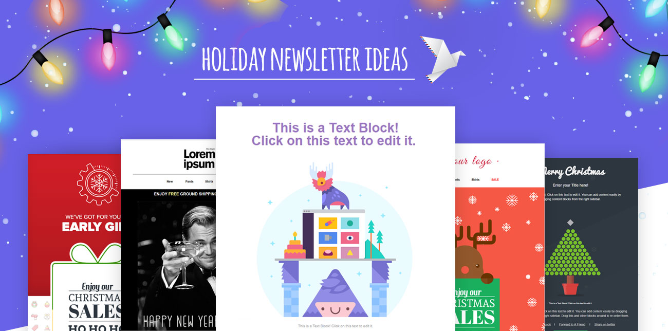Holiday newsletter ideas